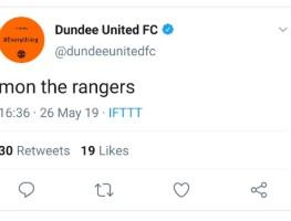 Dundee United apologise for offensive tweets after a social media