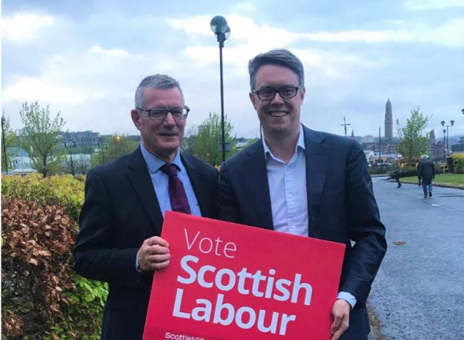 David Martin (left) pictured with Martin McCluskey in Inverclyde