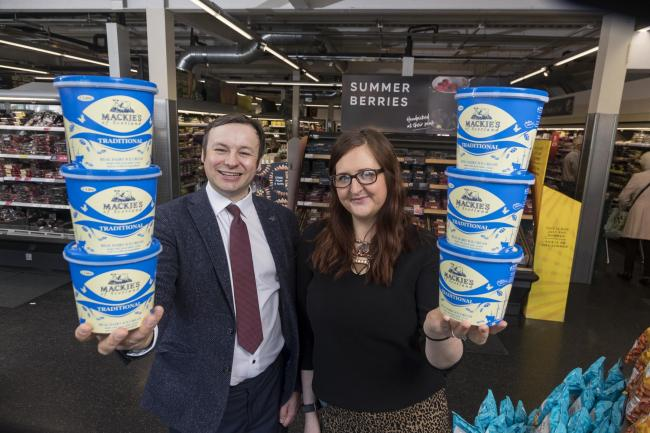 Bill Thain of Mackie's and Leigh Brogan, of Marks & Spencer.