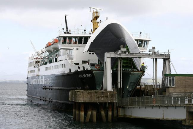 Isle of Mull  Caledonian Macbrayne ferry at  the Craignure Terminal on the  Isle  of Mull.