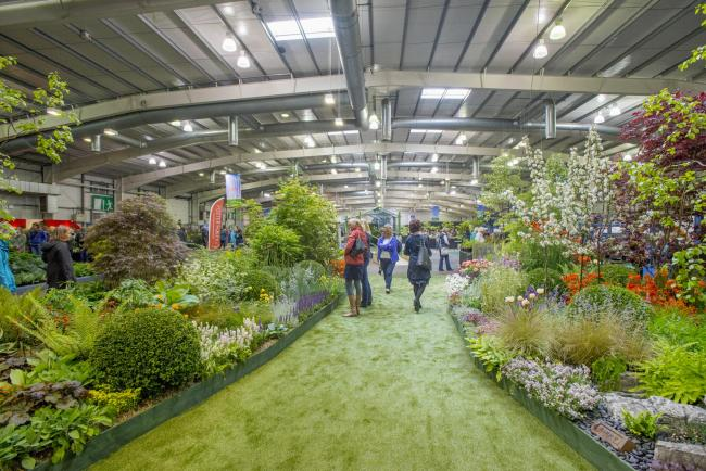 Floral pavilion at the Gardening Scotland festival