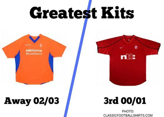 OUR Greatest Kits voter poll is kicking off with a couple of memorable Rangers tops