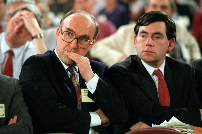 John Smith (left) and Gordon Brown in 1990.
