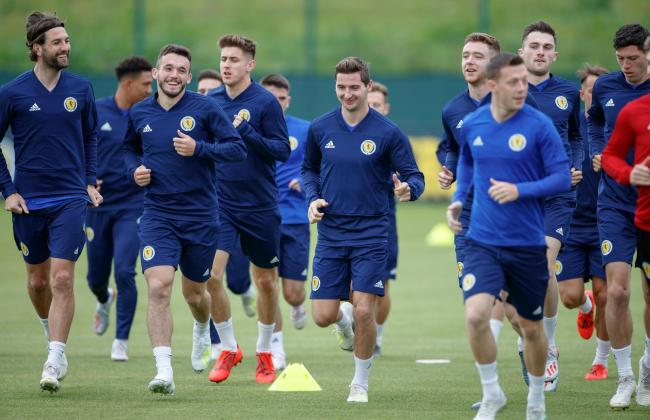 Scotland players in good spirits during international camp this week