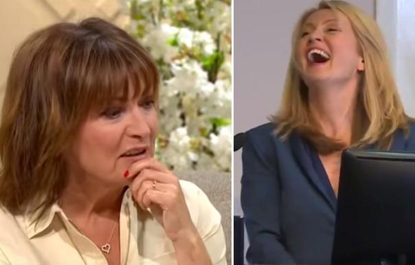 Watch:  Lorraine Kelly's reveals her real 'beef with would-be PM Esther McVey