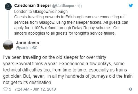 Caledonian Sleeper cancellation forces passengers into 265-mile bus