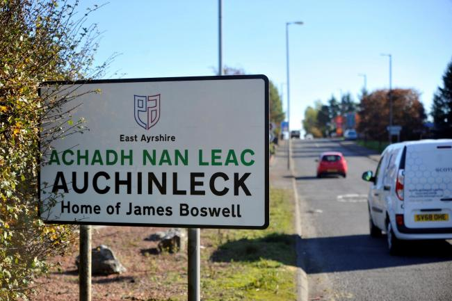 A bilingual road sign in Ayrshire