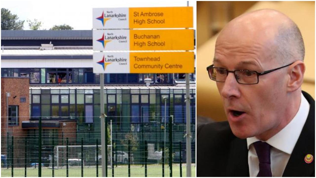 John Swinney says 'blue water' Coatbridge schools now safe as review launched