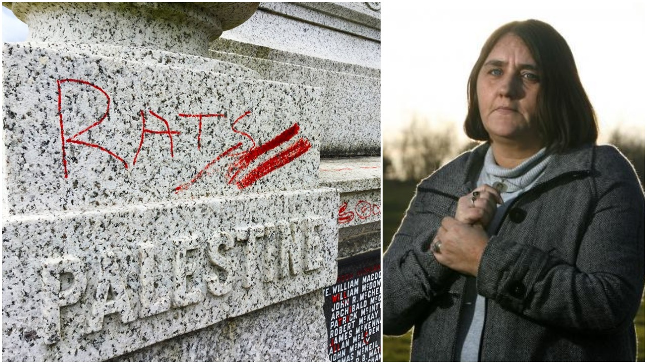 Rose Gentle whose son died in Iraq disgusted at 'rats' vandalism on Motherwell war memorial