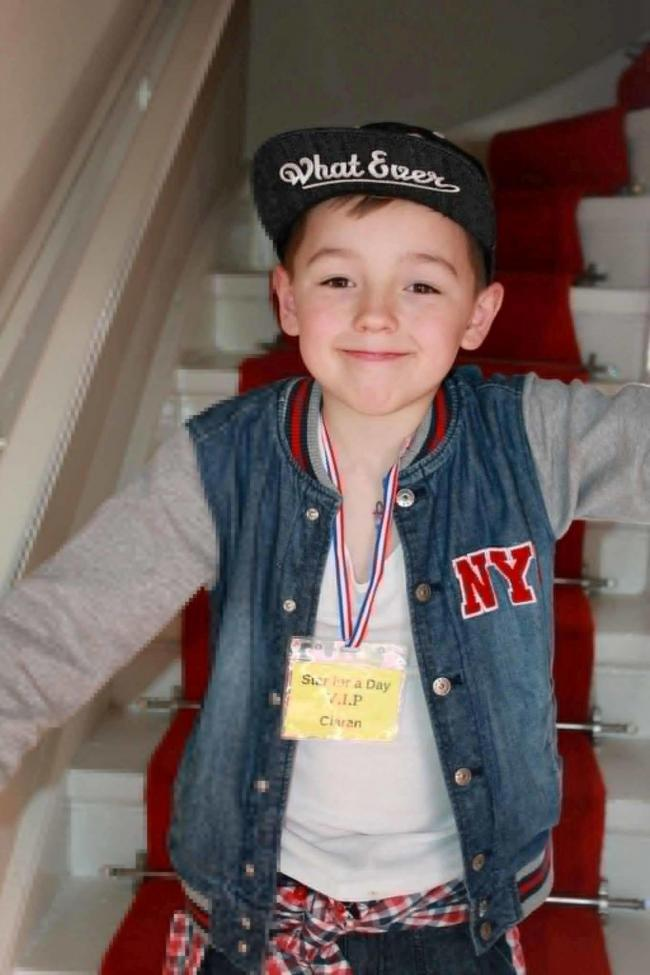 Undated handout file photo issued by Police Scotland of eight-year-old Ciaran Williamson, who was killed while playing with friends in Craigton Cemetery in Glasgow in May 2015, as his family have won a six figure compensation payout from Glasgow City Coun