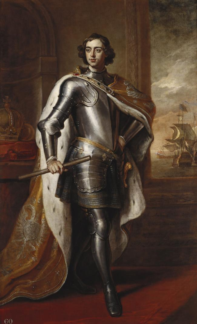 A ortrait of Peter the Great by Sir Godfrey Keller, presented to William III following the first Russian Emperor's visit to London in 1698.