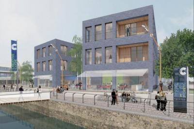 An artist's impression shows how loft life will come to Pacific Quay in the new plans for the area, which call  for smaller  spaces