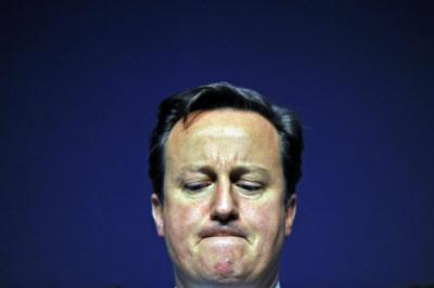 DOWNBEAT: Stock markets were falling as David Cameron delivered his assessment. Picture: Dan Kitwood