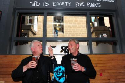 CHEERS: Customers enjoy a beer at a branch of BrewDog, a past recipient of PSYBT funds. Picture: Julie Howden