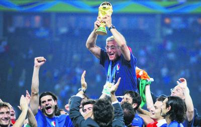 Marcello Lippi led Italy to World Cup success in 2006