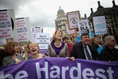HEARTS AND MINDS: Thousands of protesters took part in The Hardest Hit march in London earlier this year against Government cuts to benefits. Picture: Dan Kitwood/Getty