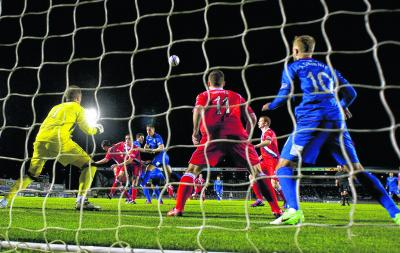 Ross Draper rises to give Inverness an early lead. Picture: SNS