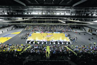 Glasgow Rocks played their first match inside the Emirates Arena in front of over 5000 fans. Picture: Jamie Simpson
