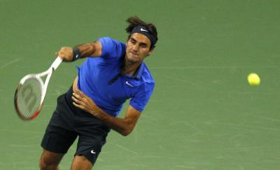 Roger Federer defeated Lu Yen-Hsun 6-3, 7-5 yesterday in Shanghai. Picture: Reuters