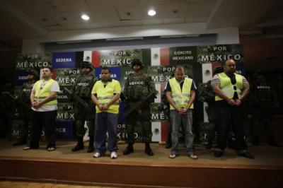 crackdown: Mexican President Felipe Calderon has implemented a 'kingpin strategy', targeting senior drug cartel bosses. Picture: Retuers