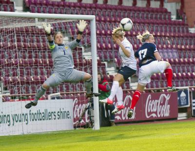 Scotland captain Gemma Fay in action