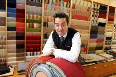 SUCCESS: David Millard, who runs family-owned flooring firm Millers Flooring, is looking forward to the completion of tram works and Games disruption. Picture: James Galloway