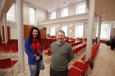 FAITH: Katie Piggott and Terry McCutcheon have warned the Kirk over evicting them from St George's Tron church.