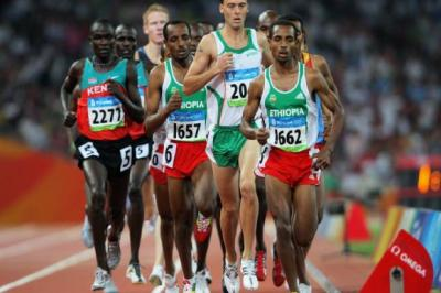 Tariku Bekele (1657) was trailing his brother (1662) in the 2008 Olympics, but he was the one to win bronze in London   Photograph: Getty