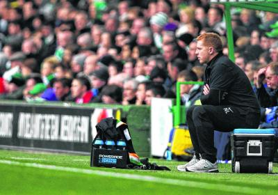 Neil Lennon surveys the wreckage of Saturday's 2-0 defeat by Kilmarnock. Picture: SNS