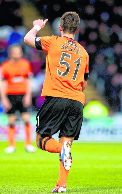 Rudi Skacel was given his Dundee United debut in the weekend win over St Mirren. Picture: SNS