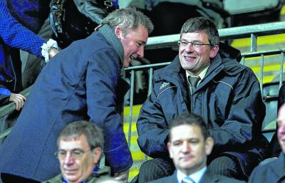 Rangers manager Ally McCoist, left, and Scotland coach Craig Levein are both under pressure. Picture: SNS