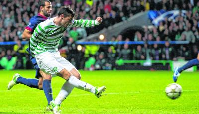 Celtic substitute Tony Watt scores his side's second goal of the game. Picture: Craig Williamson/SNS