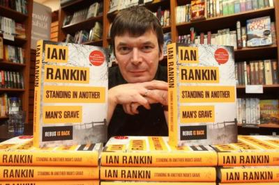 HE'S BACK: Ian Rankin signs copies of his new Rebus novel at Waterstone's in Kirkcaldy. The Rebus books were adapted for TV and starred Ken Scott as the music loving inspector.