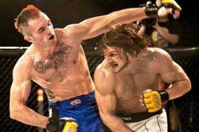 Graham Turner, left, will star at Cage Warriors 50 in Glasgow next month. Pic by Dolly Clew
