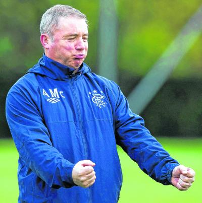 Gallows humour got Ally McCoist through the worst of the financial crisis at Rangers. Picture: sns