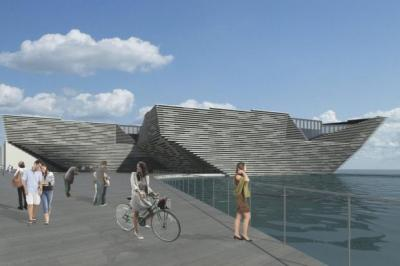 An artist's impression of the V&A in the site originally planned for it