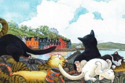 The Tobermory Cat is joined by various feline friends in the children's book by Debi Gliori