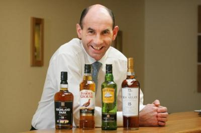 HIGH SPIRITS: Edrington chief executive Ian Curle was delighted by first-half results for the Glasgow-based firm.