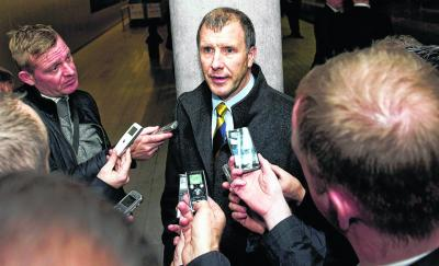 Stewart Regan intends to discuss the vacancy during the trip to Luxembourg