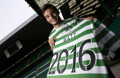 Tony Watt has signed a new contract that could keep him at Celtic until the summer of 2016