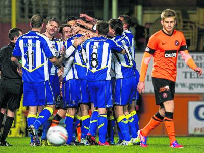 Kilmarnock raced into a two-goal lead but were pegged by United at the death. Picture: Alan Harvey/SNS