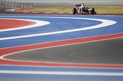 Sebastian Vettel drives on the Circuit of The Americas to his sixth pole of the season         Photographs: Reuters