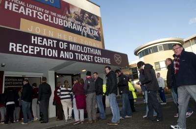 Hearts fans have rallied behind their club