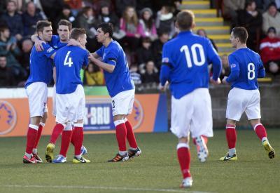 East Stirlingshire 2 Rangers 6