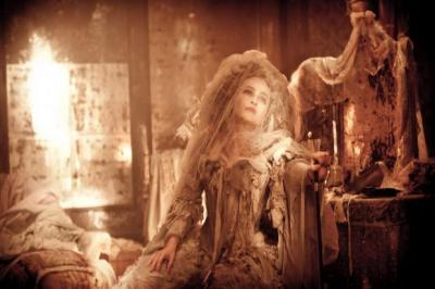 stuck IN TIME: Helena Bonham Carter as Miss Havisham in Great Expectations, the latest film from Mike Newell, below left.