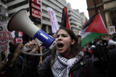 ANGER: Students gathered in London to demonstrate against education cuts, increase to tuition fees and austerity measures. Picture: Getty