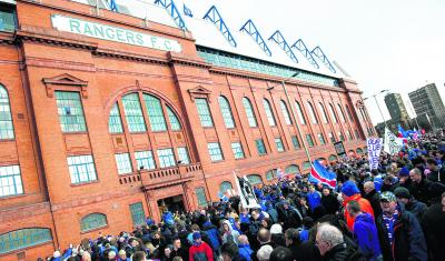 Rangers supporters have called for the commission to be cancelled. Picture: SNS