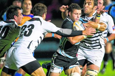 The Glasgow scrum-half Sean Kennedy shone during his cameo appearance against Zebre. Picture: SNS