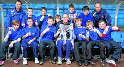 Grange Academy pupils enjoyed an informative Q and A session  with Kenny Shiels. Picture: Guy Hinks