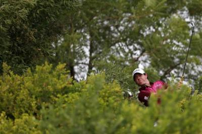 Rory McIlroy on his way to a third round 66   Photograph: Reuters